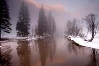 Valley mist, Yosemite, California Fine Art Print