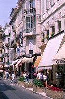 Shopping Scenic, Cannes, France Fine Art Print