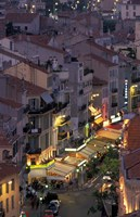 Overview of Rue Faure, Cannes, France Fine Art Print