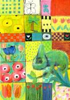 Paradise Chameleon Framed Print