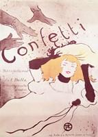 Confetti, 1893 by Henri de Toulouse-Lautrec, 1893 - various sizes