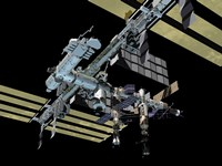 Different Angle of Computer Generated view of the International Space Station - various sizes, FulcrumGallery.com brand