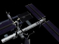 A Graphic Rendering of the International Space Station - various sizes