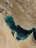 Satellite View of the Persian Gulf - various sizes