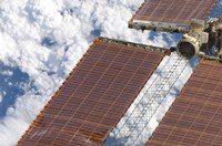 A Repaired Solar Array on the International Space Station - various sizes
