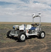 View of a 1-G Lunar Rover Vehicle - various sizes