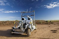 Two Astronauts Take a Ride on SCOUT During Desert RATS activity in Arizona - various sizes