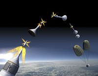 Artist's Rendering of an Emergency use System of the Launch Abort System - various sizes