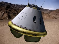 Concept of a Crew Exploration Vehicle as it Lands on Earth - various sizes
