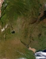 Satellite view of Argentina - various sizes
