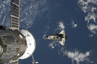 Space Shuttle Endeavour, a Russian Spacecraft is Visible in the Foreground - various sizes, FulcrumGallery.com brand