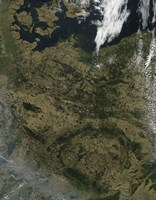 Satellite view of North Central Europe - various sizes
