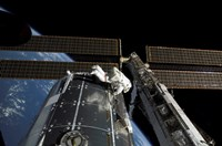 A panoramic view of the International Space Station - various sizes