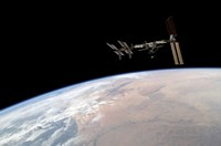 International Space Station Over Earth - various sizes - $29.99