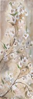 Cherry Blossoms Taupe Panel I by s - various sizes