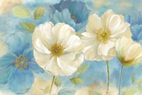 Watercolor Poppies Landscape Fine Art Print