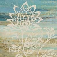 Blue Indigo w/Lace I Framed Print