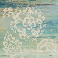 Blue Indigo w/Lace IV Framed Print