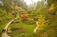The Sunken Garden, Butchart Gardens, Victoria, BC Fine Art Print