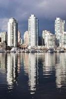 Buildings along False Creek, Vancouver, British Columbia, Canada Fine Art Print