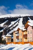 Ski lodges, Sun Peaks Resort, Sun Peaks, British Columbia, Canada Fine Art Print