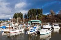 Port Alberni, Harbor Quay Marina, Vancouver Island, British Columbia, Canada Fine Art Print