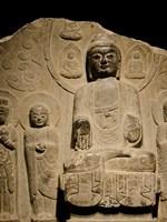 Buddha statue c. 550-577 AD, Shanghai, China Fine Art Print