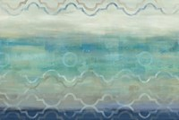 Abstract Waves Blue/Gray by Cynthia Coulter - various sizes - $43.99