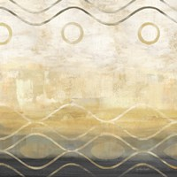 Abstract Waves Black/Gold II Framed Print
