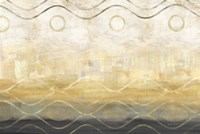 Abstract Waves Black/Gold Fine Art Print