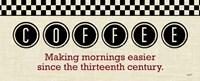Checkered Kitchen Sign I Framed Print