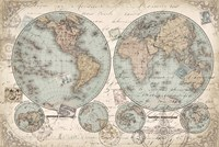 World Hemispheres by s - various sizes