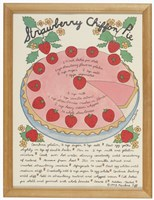 A Strawberry Chiffon Pie Fine Art Print