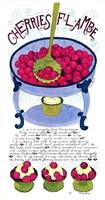 Cherries Flambe Fine Art Print