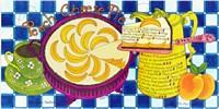 Peach Cheese Pie Fine Art Print