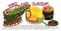 Port Wine Cheddar by Marlene Siff - various sizes