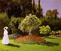 "34"" x 28"" Monet Gardens"