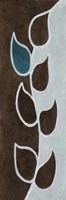 "Brown Blue Leaver by Kristin Emery - 6"" x 18"""