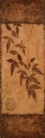 "Vert Leaves Choc Brown Left by Kristin Emery - 6"" x 18"""
