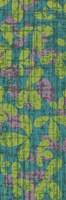 Green & Blue Leaves on Gray II Framed Print