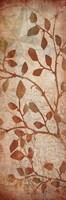 "Leaves Map 2 by Kristin Emery - 6"" x 18"""