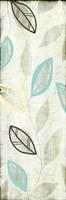 """Leaves on Blue II by Kristin Emery - 6"""" x 18"""""""