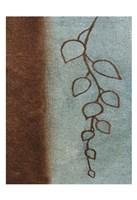"""Brown & Blue Leaves I by Kristin Emery - 13"""" x 19"""""""