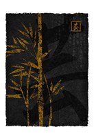 Black Gold Bamboo 2 Fine Art Print