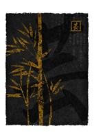 Black Gold Bamboo 2 Framed Print
