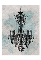 Chandelier  Splash Of Blue 2 Fine Art Print