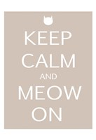 "Keep Calm Cat by Kristin Emery - 13"" x 19"""