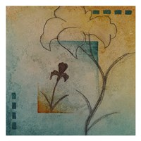 """Flower Abstract II by Kristin Emery - 13"""" x 13"""""""