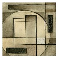 "Brown Circle Box 1 by Kristin Emery - 13"" x 13"""