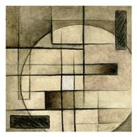 "Brown Circle Box 2 by Kristin Emery - 13"" x 13"""
